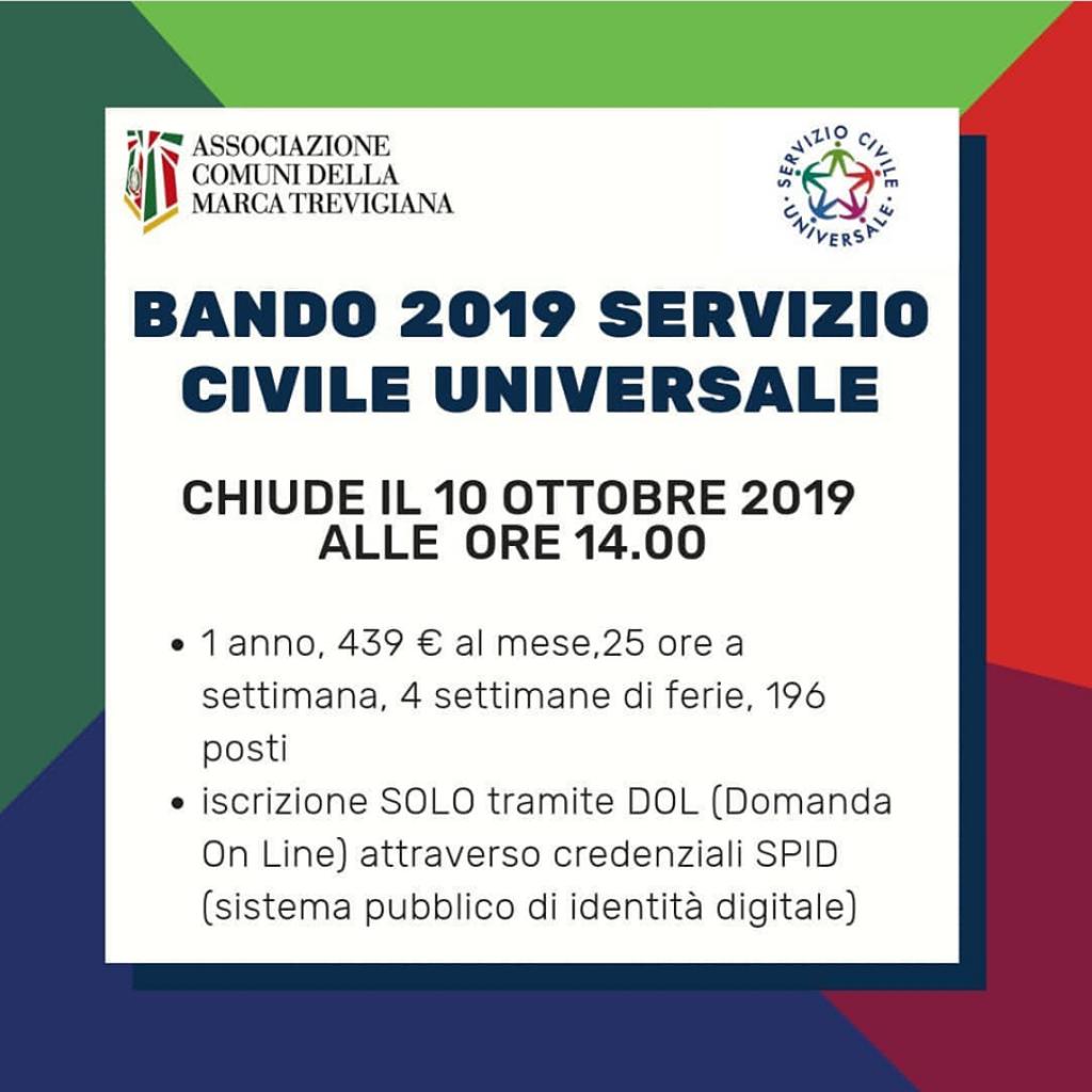 Bando Servizio Civile Marca Trevigiana